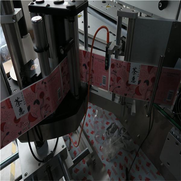 O'z-o'zidan yopishqoq kosmetik kvadrat shishani etiketlash mashinasi 600 kg vazn