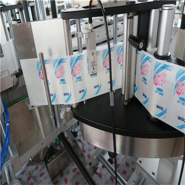 O'z-o'zidan yopishqoq stiker Ikki tomonlama shishani etiketlash mashinasi to'liq avtomatik