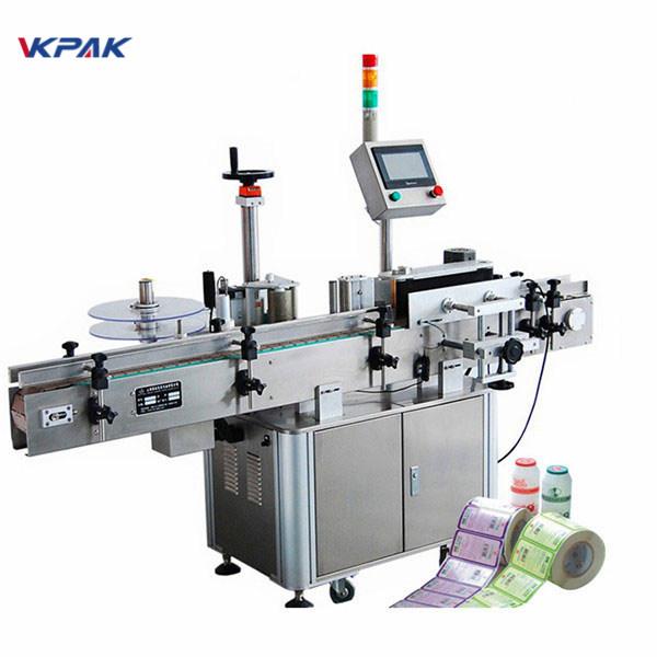 Pvc oziq-ovqat mahsuloti uchun avtomatik aerosol qutilari stikerini etiketlash mashinasi