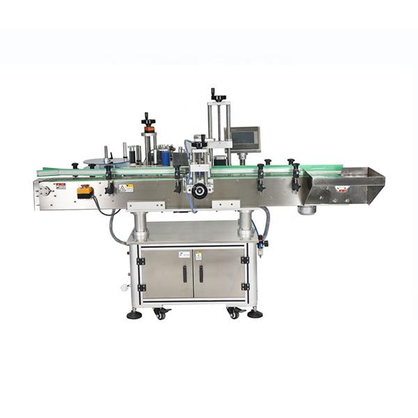 Aqlli PLC nazorati Avtomatik ikki tomonlama stikerlarni yorliqlash mashinasi