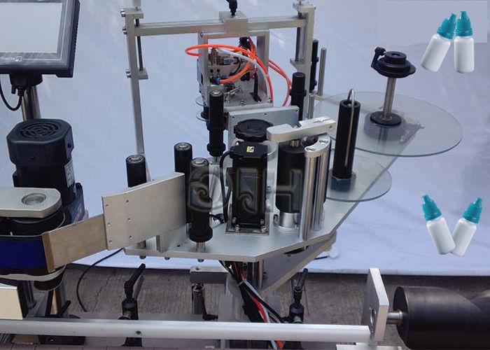 Avtomatik yetkazib beruvchi Xitoyning yuqori / pastki tomonlari vertikal stiker dumaloq shishani etiketlash mashinasi